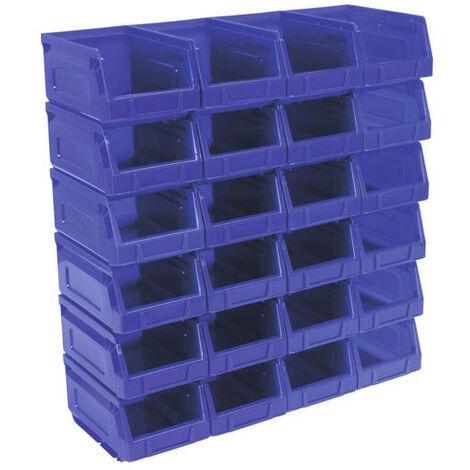 Sealey TPS224B Plastic Storage Bin 105 x 165 x 83mm - Blue Pack of 24
