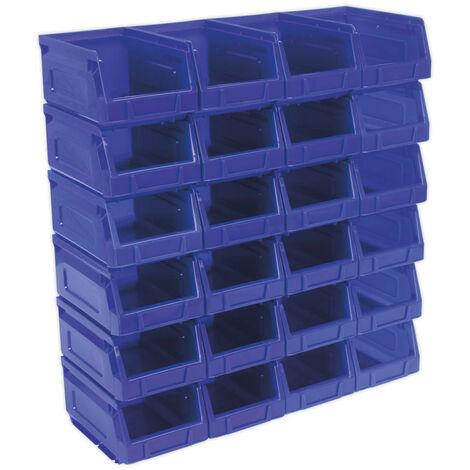 Sealey TPS224B Plastic Storage Bin 105 x 165 x 85mm - Blue Pack of 24
