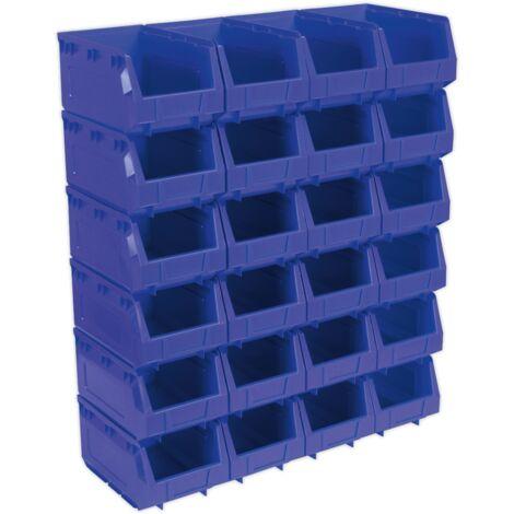 Sealey TPS324B Plastic Storage Bin 150 x 240 x 130mm - Blue Pack of 24