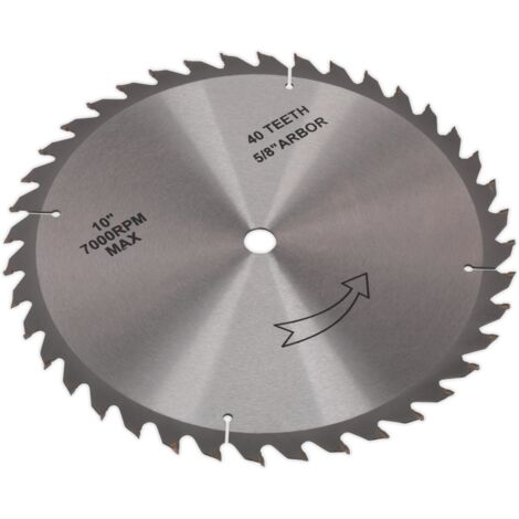 Sealey TS10P.60 Table Saw Blade 254mm x 16mm 40T