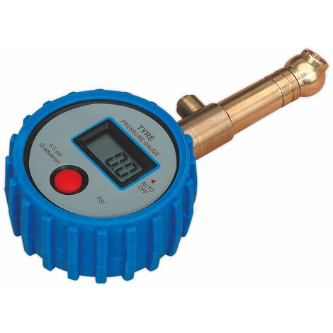Sealey TST/PG98 Tyre Pressure Gauge Digital with Swivel Head and Quick Release