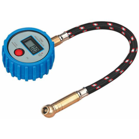 Sealey TST/PG981 Tyre Pressure Gauge Digital with Leader Hose and Quick Release