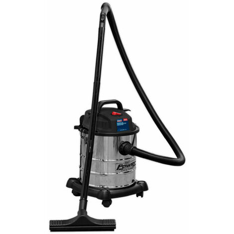 Sealey Vacuum Cleaner Wet & Dry 20ltr 1250W Stainless Drum
