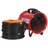 Sealey VEN250 Diameter 250mm Portable Ventilator with 5mtr Ducting