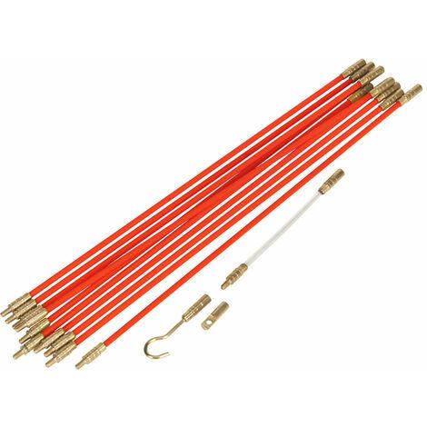 Sealey VS8181 Mole Pole Pro Cable Management Tool 12pc 3.2mtr