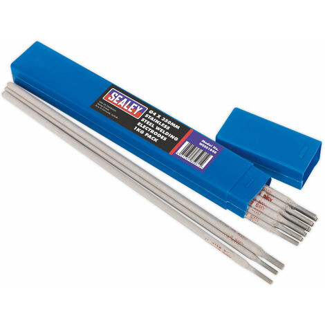 Sealey WESS1040 Welding Electrodes Stainless Steel Ø4 x 350mm 1kg Pack