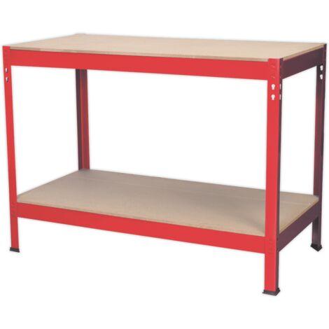 Sealey Workbench 1.2mtr Steel Wooden Top