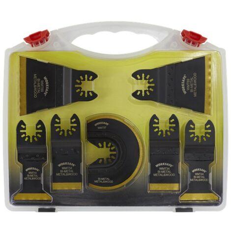 Sealey Worksafe Multi Tool Blade Set Titanium Coated Bi-Metal 7 Piece Cased Set