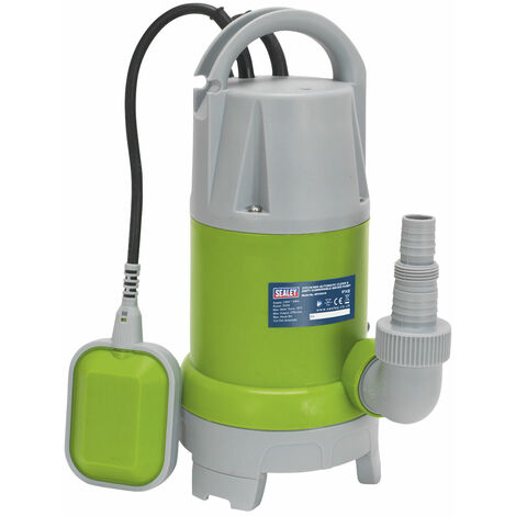 Sealey WPCD215 Submersible Clean & Dirty Water Pump Automatic 217ltr/min 230V