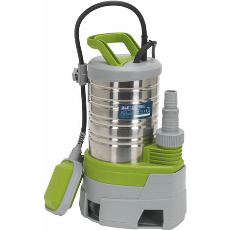 Sealey WPS225P Submersible Stainless Water Pump Auto Dirty Water 225ltr/min 230V