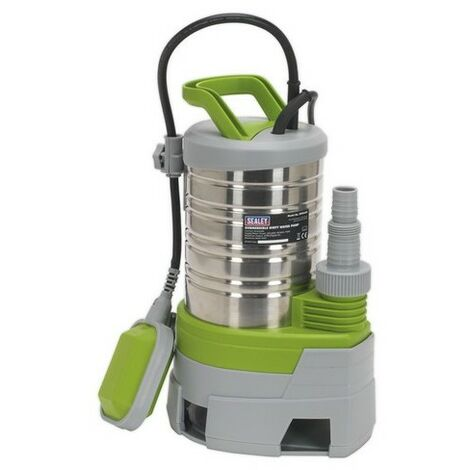 Sealey WPS225P Submersible Stainless Water Pump Automatic Dirty Water 225 Litre/min 230V