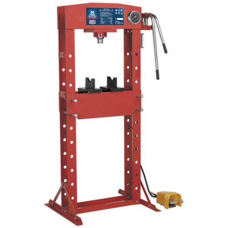 Sealey YK309FAH Air/Hydraulic Press 30tonne Floor Type with Foot Pedal