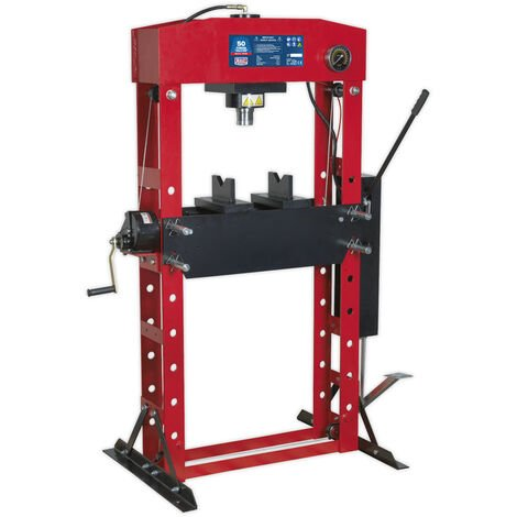 Sealey YK50FFP Hydraulic Press Premier 50tonne Floor Type with Foot Pedal