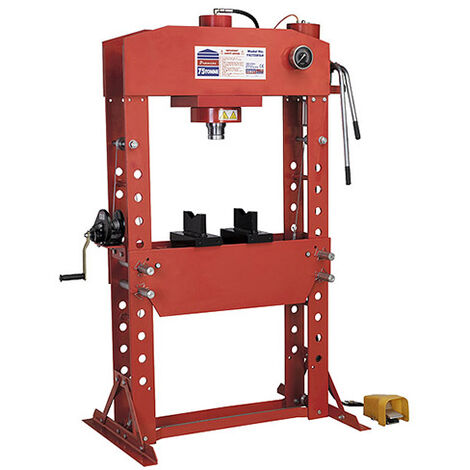 Sealey YK759FAH Air/Hydraulic Press 75tonne Floor Type with Foot Pedal - Presses