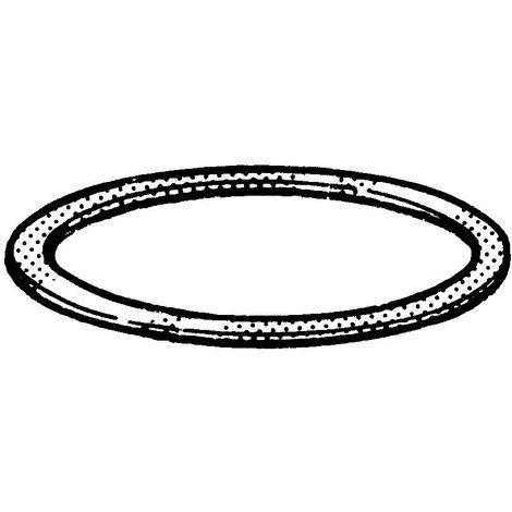 Sealing ring, filled, h=2.5 DIN 7603 C Copper/FESTAPLAN h=2,5±0.4
