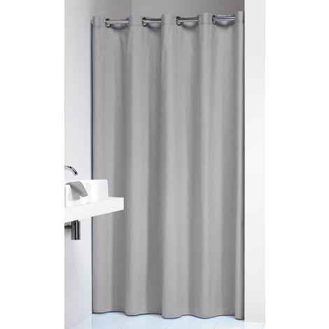Sealskin 232211311 tenda da doccia coloris tenda doccia, tessuto, grigio  chiaro, 200 x 180 x 0.4 cm