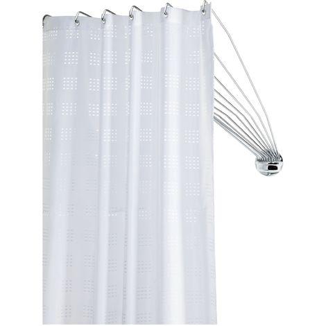 94/x/71/cm Bianco Kleine Wolke 3325100000 Telaio a ombrello con 12 bracci per tenda doccia