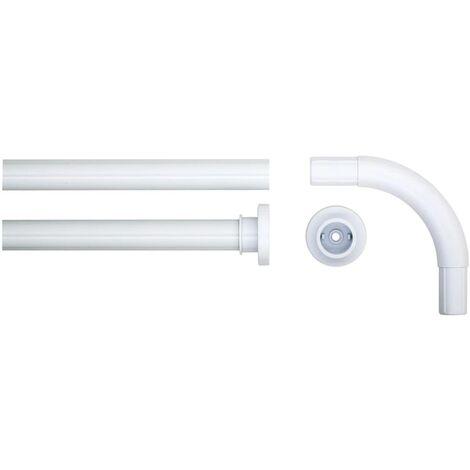 Sealskin Corner Shower Curtain Rod Set 90x90 cm White - White