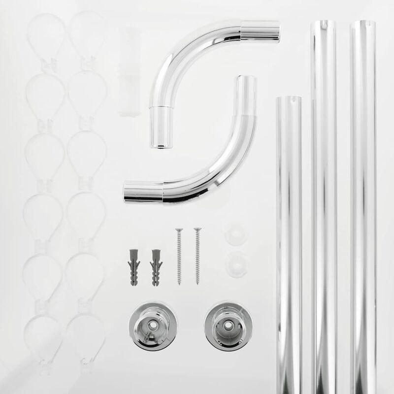 Sealskin Duschstange U-Form Seallux + 12 Ringe Chrom 13276668918 -