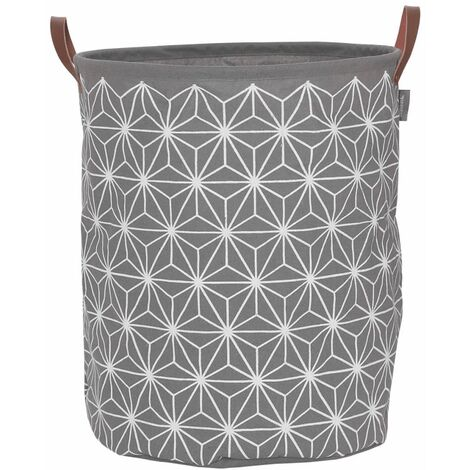Sealskin Laundry Basket Triangles Grey 60 L 361882012