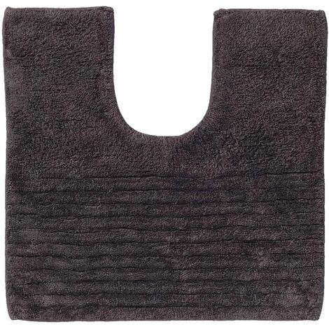 """main image of """"Sealskin Pedestal Mat Essence Anti Slip Mat Bath Rug Accent Rug Shower Mat Bath Mat Toilet Mat Shower Carpet Bathroom 45 x 50 cm Anthracite/Linen"""""""