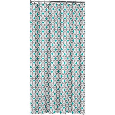 Rideau de douche textile 200 x 120 cm Galedo