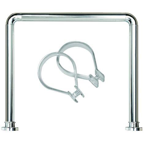 Sealskin set Seallux de barra cuadrada de ducha + 12 anillas (Cromo)
