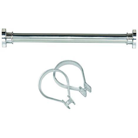 Sealskin set Seallux de barra de ducha + 12 anillas 125-220 cm (Cromo)