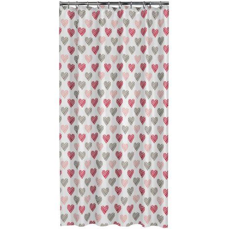 Sealskin Shower Curtain Amor 180 cm Red 235241359