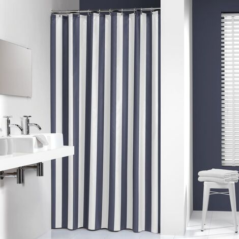 "main image of ""Sealskin Bathroom Shower Curtain Machine Washable Linje 180x200 cm Grey/Blue"""