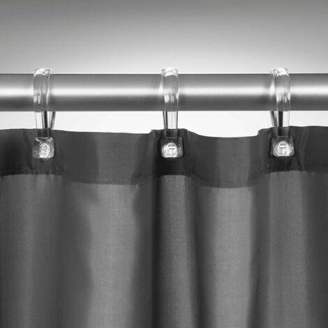 Sealskin Shower Curtain Madeira Waterproof Bathroom 120cm/240cm White/Grey