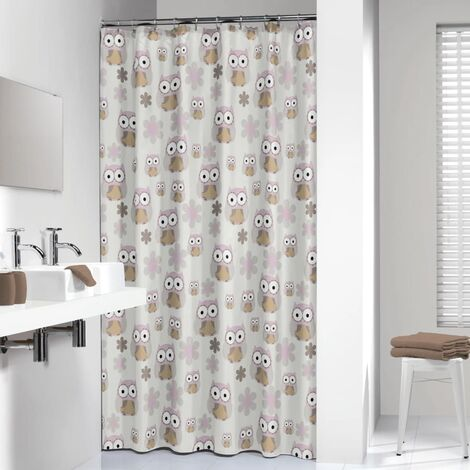Sealskin Shower Curtain Owl 180 cm Sand 210871365