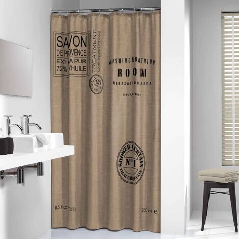 Sealskin Shower Curtain Provence 180 cm Ecru 233321366