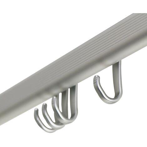 Sealskin Shower Curtain Rail Set Easy-Roll Matte Aluminium