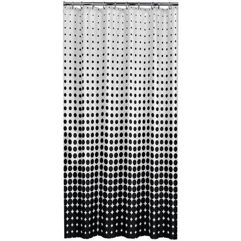 Sealskin Shower Curtain Speckles 180 cm Black 233601319