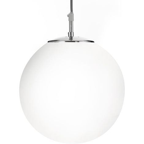 Searchlight 6066 Atom 1 Light Ceiling Pendant Light In Satin Silver