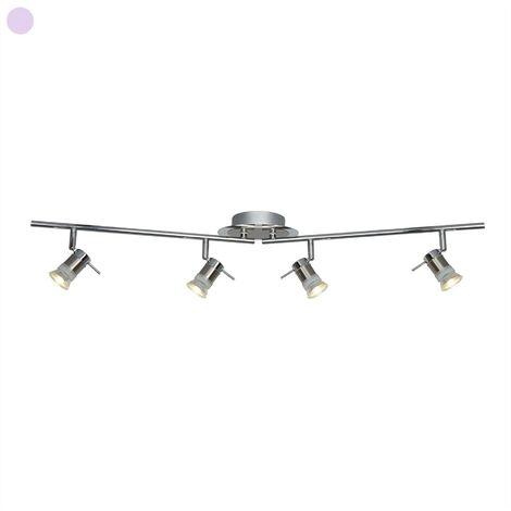 "main image of ""Searchlight Aries - 4 Light Bathroom Chrome, Satin Silver IP44, GU10"""