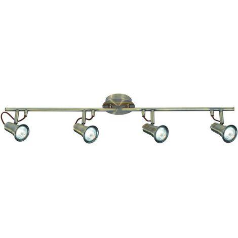 """main image of """"Searchlight Eros - 4 Light Adjustable Ceiling Spotlight Bar Antique Brass, GU10"""""""