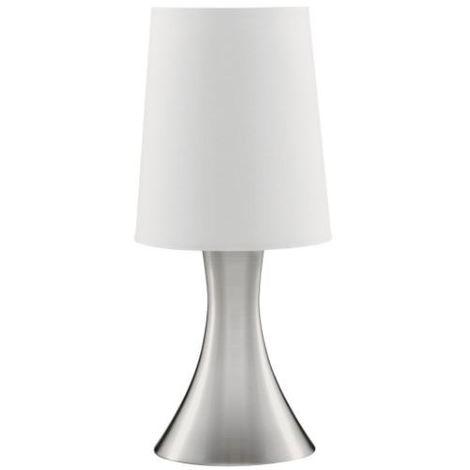 Searchlight EU3922SS Lámpara de sobremesa táctil níquel satinado