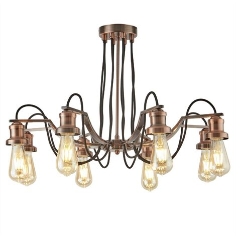 """main image of """"EGLO Pendant Light Townshend 4 Lamps Wood Black and Beige"""""""