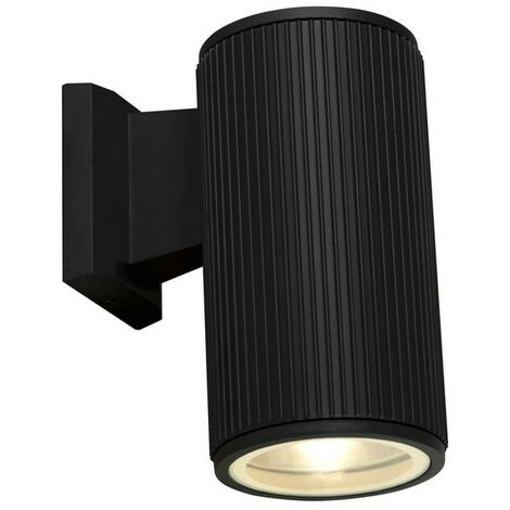 Searchlight Outdoor 1 Light Wall Porch Light - Black With Clear Glass Diffuser