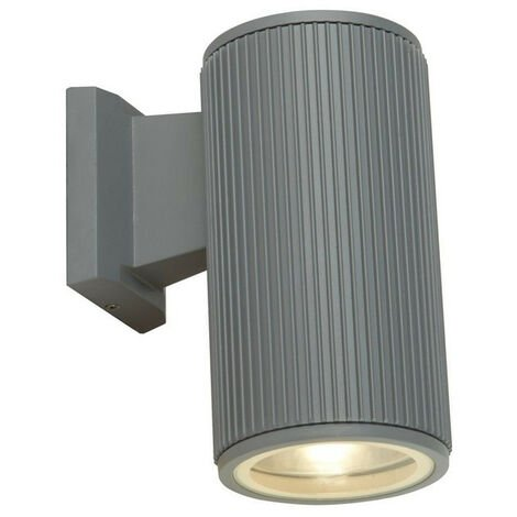 Searchlight Outdoor 1 Light Wall Porch Light - Grey With Clear Glass Diffuser