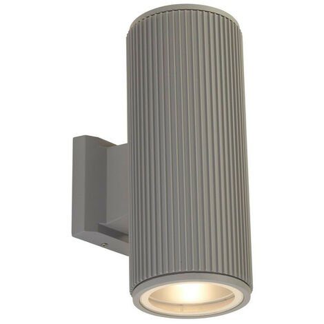 Searchlight Outdoor Up Down Wall Porch Light - Grey With Clear Glass