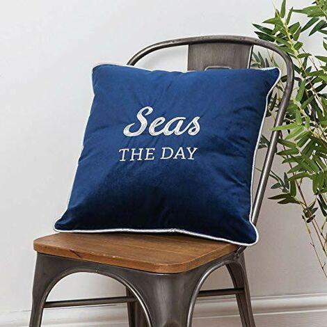 Seas The Day Velvet Cushion 42cm