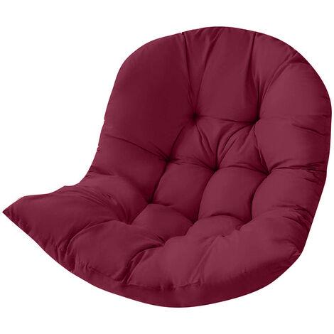 Seat Cushion Waterproof Egg Chair Seat Pad Pillow Swing Chair Cushion 120x90x15cm Wine red