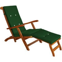 Seat Cushions Deuba For Deck Chair Recliner With Buttons and Elastic Strap