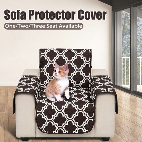 Seat Pet Dog Sofa Couch Cover Protective Removable Furniture Cover (Brown, Brown Pattern)