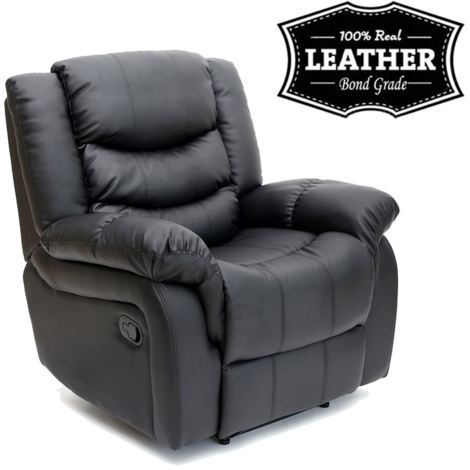 """main image of """"SEATTLE LEATHER RECLINER ARMCHAIR SOFA HOME LOUNGE CHAIR RECLINING - different colors available"""""""