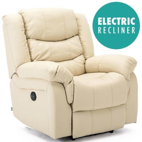 SEATTLE ELECTRIC LEATHER AUTO RECLINER ARMCHAIR SOFA HOME LOUNGE CHAIR - different colors available