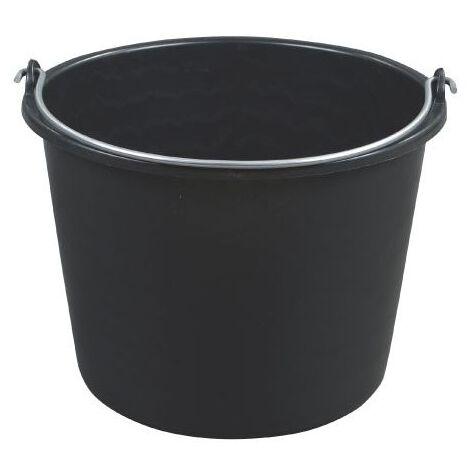 Seau 20L plastique noir